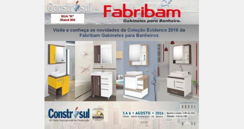Fabribam estará presente na Construsul 2016