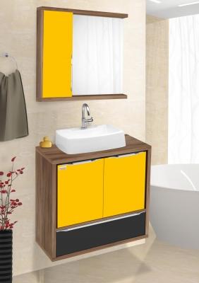 Nogal, amarelo e preto